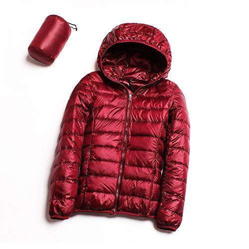 RYDRQF Dsl-521 - Chaqueta de invierno para mujer, ligera, color Vino tinto, tamaño medium