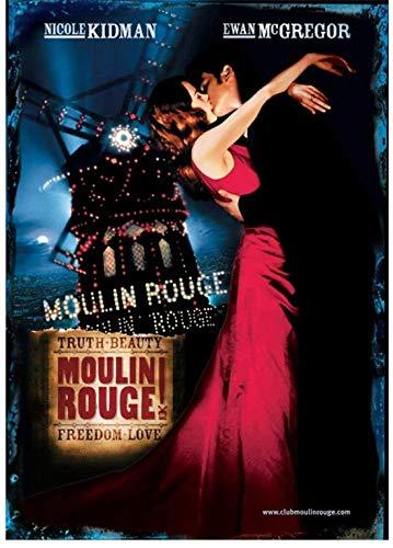 Moulin Rouge Film Art Impression Affiche Maison Mur Toile Peinture oeuvre Chambre Photos décor -50x75 cm Pas de Cadre