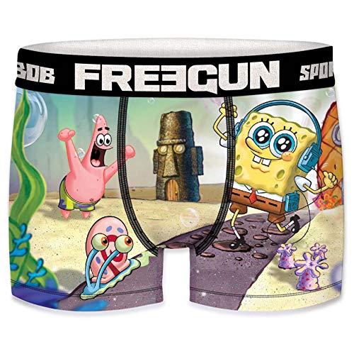 Freegun - Boxer da uomo, fantasia: SpongeBob 2020 Pâques  L