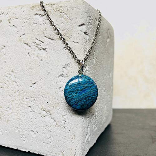 Halskette Damen Kette Lucil Maldives Dia Farbe blau