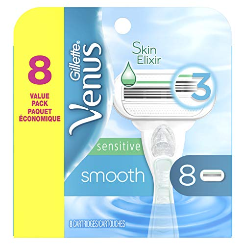 Gillette Venus Smooth Sensitive Women's Razor Blades - 8 Refills
