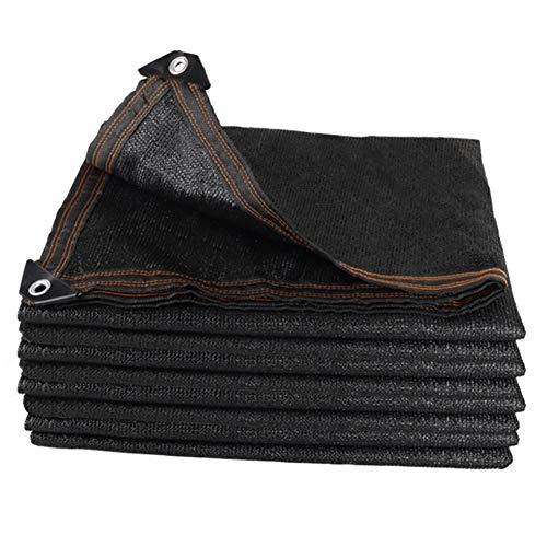 遮光ネット 95%のブラックシェード布日ネット、ガーデン、植物カバー、馬ストール、カーポート用グロメットとスーパーファイン高密度UV耐性ヘビーデューティシェードメッシュファブリック (Color : Black, Size : 4x4m)