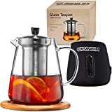[32 oz, GIFT BOX] Stovetop Safe Teapot with Infuser For Loose Tea - Tea Diffuser Pot with Teapot...
