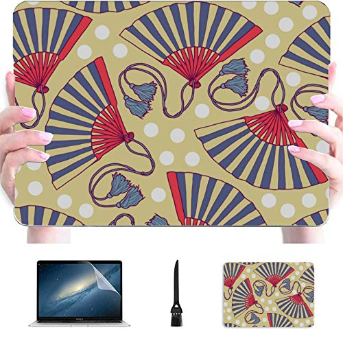 MacBook Pro Hard Cover Traditional Folding Fan Plastic Hard Shell Compatible Mac Air 13' Pro 13'/16' MacBook 13 Case Protective Cover for MacBook 2016-2020 Version