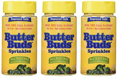 Butter Buds, Sprinkles, Butter Flavored Granules, 2.5 Ounce (Pack of 3)