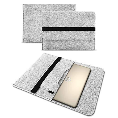 Sleeve Hülle für HP 255 G6 Tasche Notebook Cover Filz Hülle Laptop Schutzhülle 15,6 Zoll Universal, Farbe:Hell Grau