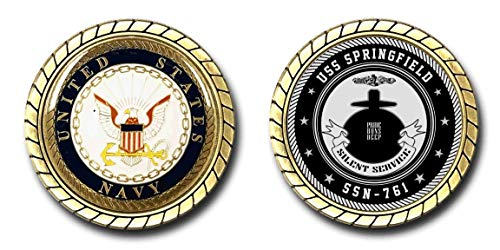 USS Springfield SSN-761 US Navy Submarine Challenge Coin - Officially Licensed