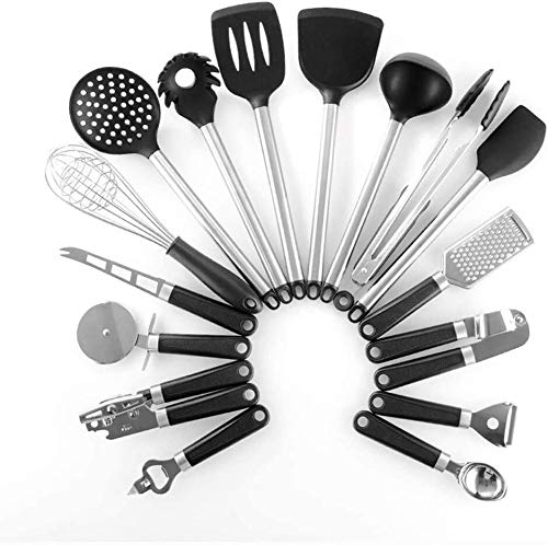 SHATOUYU 16 Set nonstick Nylon Kitchen Utensils, Kitchen Utensils Spatula Resistant Package, comprising a Scraper, Spoon Edible, Slotted Turner, Slotted Spoon bakeware SA620