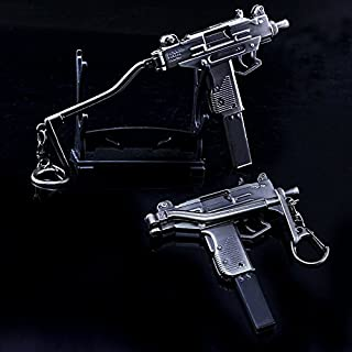 "CHGOO 5.9"" 1/6 Scale Uzi Pistol Submachine Gun Israel Army Miniature Toy Guns Model Keychain Guns"
