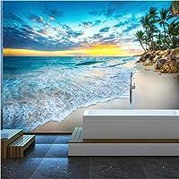 写真の壁紙3D立体空間カスタム大規模な壁紙の壁紙 ビーチシービューの壁の装飾リビングルームの寝室の壁紙の壁の壁画の壁紙テレビのソファの背景家の装飾壁画-280X200cm