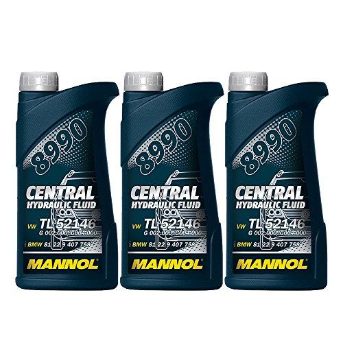 MANNOL 3 x 500ml 8990 Central Hydraulic Fluid / CHF11S Hydrauliköl- Servo- Öl Grün