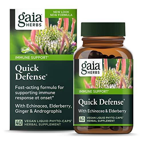 Gaia Herbs, Quick Defense, Fast-Acting Immune Support, Echinacea,...