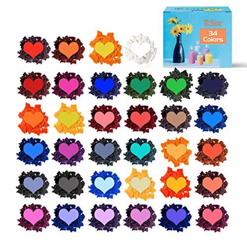 Alacritua Candle Dye Candle Making Dyes,Soy Candle Color Dyes,Wax Dyes for Candle Making,DIY Soy Candle Dye Gentle Safe Soy Wax Dye for Gifts,24PCS Random Color