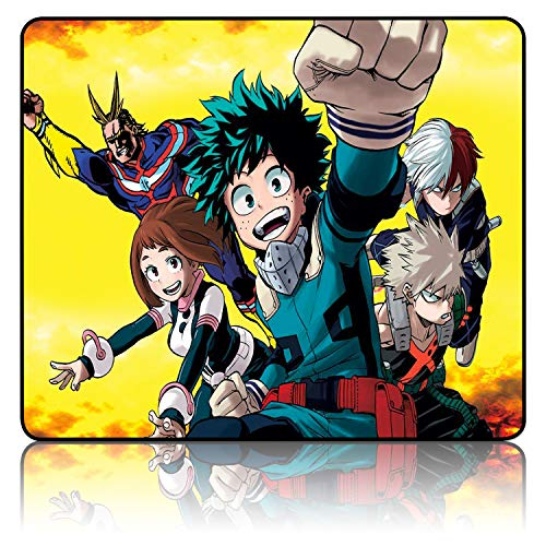 My Hero Academia Mouse Pad Anime Mouse Pad Waterproof Non-Slip Mouse Pads for Computers 9.8x12x0.12inch