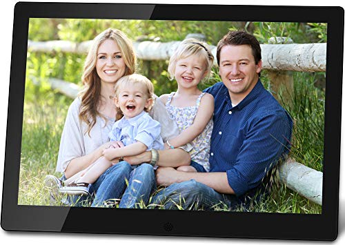 OTU 10 Inch Wi-Fi Smart Cloud Digital Picture Frame with IPS High Resolution Display,Wall-Mountable,Share Moments Instantly via E-Mail or App