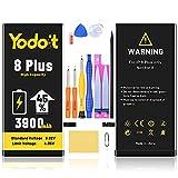 Yodoit Batería para iPhone 8 Plus 3900mAh bateria Recambio, Aumento del 45% de la Capacidad de la batería Reemplazo de Alta Capacidad Batería con Kits de Herramientas de reparación