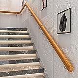 Handlauf Holz, 100cm Länge, Treppengeländer Handläufer Treppe Innen Wandhandlauf Treppe, Holz Natürlich