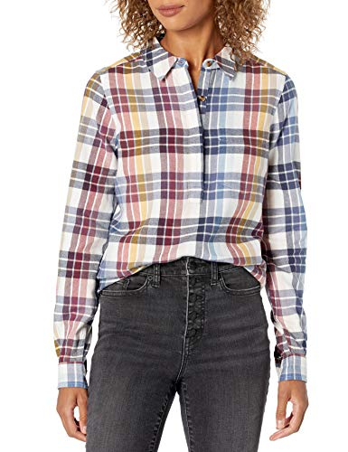 Marca Amazon - Goodthreads Brushed Flannel Popover Shirt Mujer