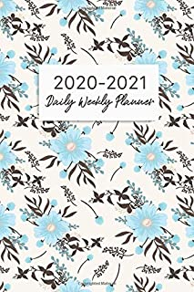 2020-2021 Daily Weekly Planner: Floral Pattern Cover, 2020-2021 Two Year Planner, Daily Weekly Monthly Calendar Academic Schedule Logbook, 24 Months ... Planner, January 2020 to December 2021)