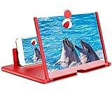 Eastor - Amplificador de pantalla 3D para teléfono móvil, lupa de pantalla, soporte plegable de 12 pulgadas, lupa 3D para teléfono móvil, para películas, vídeos y juegos – 4 aumentos