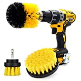 Musment Floor Mats Drill Brush for Car Wash Detailing Attachment Supplies Set Fit Wheel Cleaner ,Tire,Rim,Carpet, Bathroom, Kitchen and Auto Power Scrubber Brush Cleaning Kit