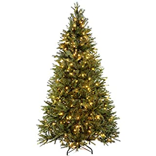 WeRChristmas Pre-Lit Regal Spruce Multi-Function Christmas Tree, 2.1 m - 7 feet with 450-LED, Green (B00OOMR6CK) | Amazon price tracker / tracking, Amazon price history charts, Amazon price watches, Amazon price drop alerts