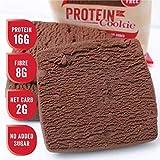 Justine's Chocolate Fudge Kekse, Weich Gebackener Proteinreicher Gesunder Snack, Ultra Low Carb, Kein Zuckerzusatz, Glutenfrei, Weizenfrei, Hergestellt in Neuseeland (64 Gramm, 12 Stück)