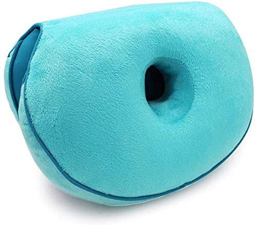 AYCYNI Dual Comfort-Kissenlift Hugs-UP-Sitzkissen, orthopädische Memory-Foam-Trägerkissen für Ischias, Rückenbein- und Hüftschmerzen - Druckentlastung auf der Rückseite, Blau,Blau