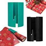 Creative Gift Wrap Cutter Christmas Wrapping Paper Cutter Tool Tube, Kraft Craft Paper roll Sliding line Cut Trimmer, Round Lip, for Xmas/Birthday Safer and Easier Cutting