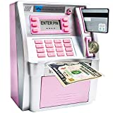 LB ATM Savings Bank Electronic Mini ATM Piggy Bank Cash Coin...