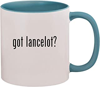 got lancelot? - 11oz Ceramic Colored Inside & Handle Coffee Mug, Light Blue