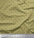 Soimoi Grün Samt Stoff geometrisch Hemdenstoff Stoff