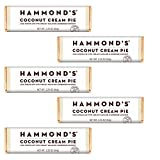 COCONUT CREAM PIE: What could possibly be better than coconut cream pie? Gourmet milk chocolate bar with cream ganache and shredded coconut– A decadent, delicious sweet tropical treat! HAMMOND'S CANDIES: Hammond's Candies chocolate candy bars are mad...