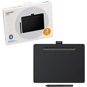 """Wacom CTL6100WLK0 Intuos Wireless Graphics Drawing Tablet with Software Included, 10.4"""" X 7.8"""", Black"""