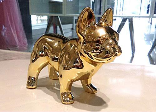Hucha dorada Bulldog Francés 15cm de alto
