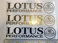 """ロータスLOTUS用 エキシージ&エリーゼ他 """"LOTUS PERFORMANCE"""" &エンブレムロゴステッカー Lサイズ"""