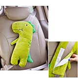 Green Dinosaur L Neck Support Pillow Adjustable Seat Strap Shoulder Pads Road Trip Pillow Seatbelt Buddy Attelia Kids Car Seat Belt Pillow for Kids