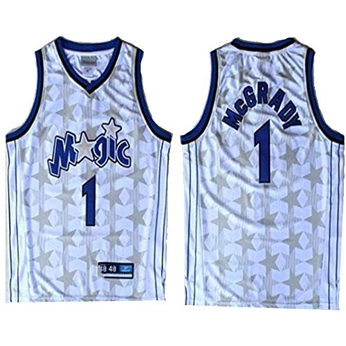 XSJY NBA Orlando Magic # 1# McGrady Vintage-Jersey, Herren- Und Unisex Basketball Shorts T-Shirt Jersey (Größe: S, M, L, XL, XXL),L:175~180cm/75~85kg