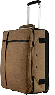 Rolling Backpack Travel Luggage Wheeled College Students Backpack Trolley School Bags For Boys Girls Teenagers Students Schooling (Color : Khaki, Size : 37x25x50cm)