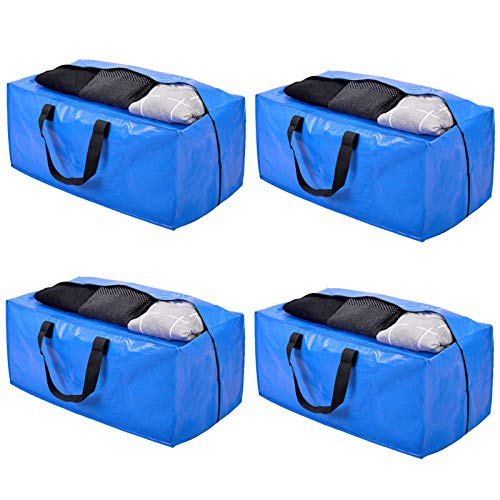 Heavy Duty Extra Large Storage Bags, XL Moving Bags for College Dorm Essentials, Moving Supplies Compatible with IKEA Frakta Cart, 4 Packs