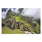 Scott397House Jigsaw Puzzles 1000 Pieces for Adults, Large Piece Puzzle Cool Machu Piccu Peru Mountain LandscapeFun Game Toys Birthday Gifts Fit Together