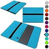 Sleeve Hülle kompatibel für Medion Akoya E14302 Convertible Schutzhülle Filz Tasche Laptop Cover Notebook Hülle 14 Zoll, Farbe:Türkis