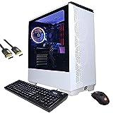 Mytrix Gamer Master by_Cyberpowerpc Gaming Desktop PC, AMD Ryzen 7 5800X, GeForce RTX 3060 12GB, 16GB RAM, 1TB SSD+2TB HDD, HDMI/DP/DVI, RJ-45, RGB, Mytrix HDMI 2.1 Cable, Win 10 (Renewed)