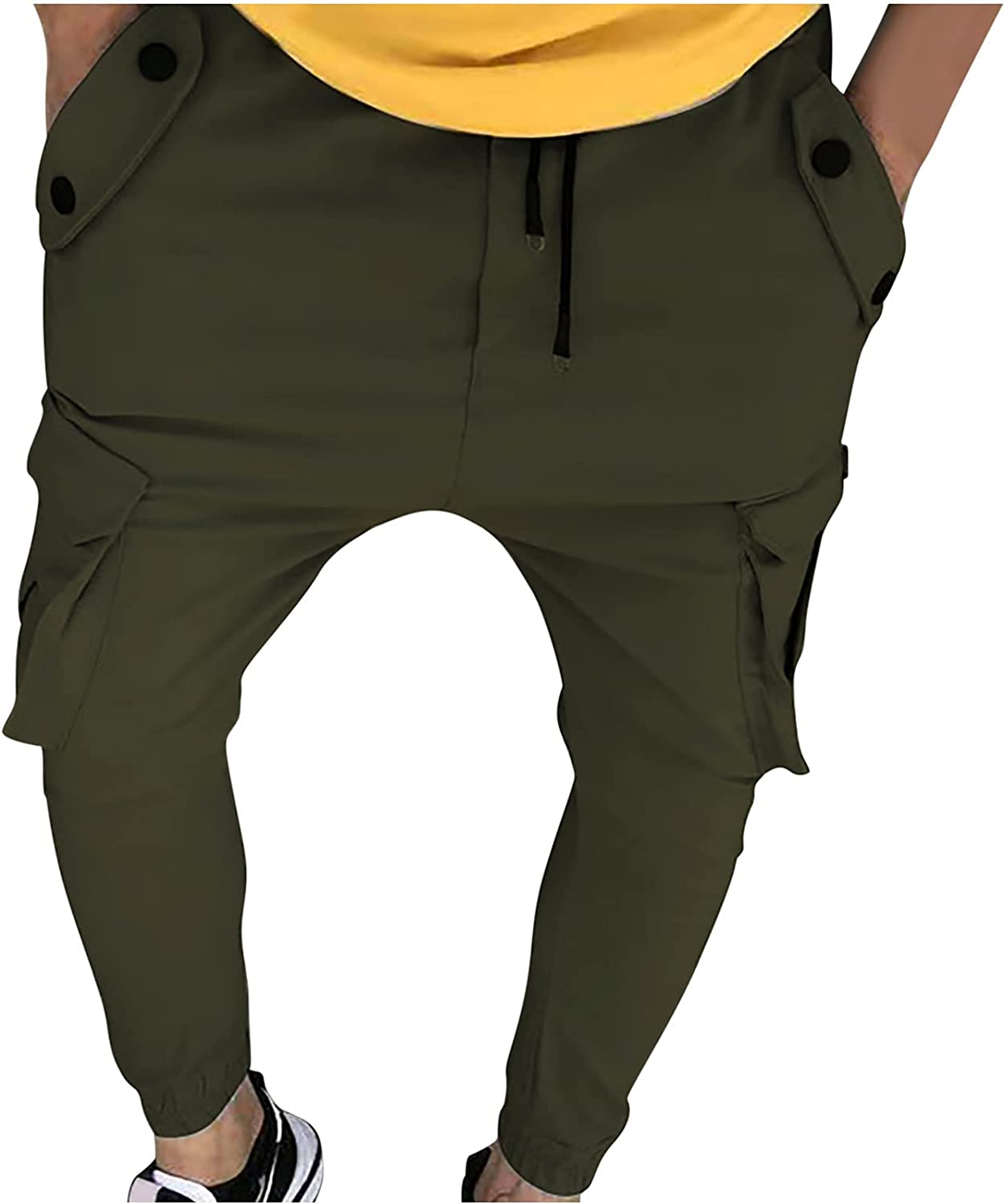 Sinzelimin Pants for Men's Cargo Pants Fitness Athletic Running