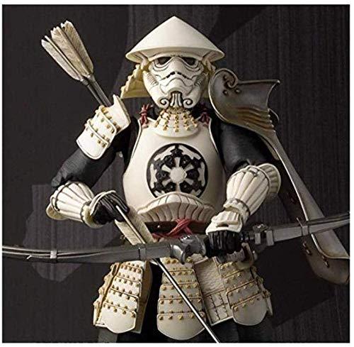 lkw-love Gegliederte Figur mit Pfeil und Bogen Weiße Figur Samurai Figur Japanische Figur Ausgestattet mit einem Zubehör