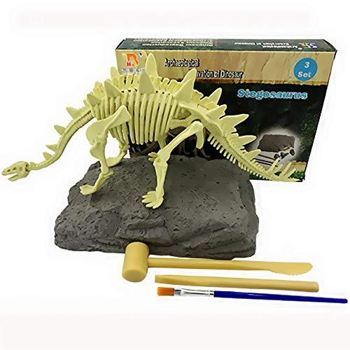 JCT Dinosaur Dig Kit Kinderspielzeug Dinosaurier-Ausgrabungskits , Dino Fossil Dig Kit DIY Stegosaurus Archäologische Ausgrabung Wissenschaft Bildung DIY Spielzeug Geschenk (Stegosaurus)