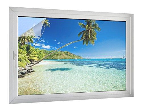 Klebefieber Sichtschutz Atemberaubende Lagune B x H: 60cm x 40cm