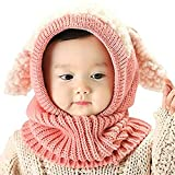 Golden Apple Baby Mädchen Jungen Winter Strickschal Mütze Warme Ohrenklappen Kappe für Kleinkind 6-36 Monate Gr. 0.5-3 Jahre, rose