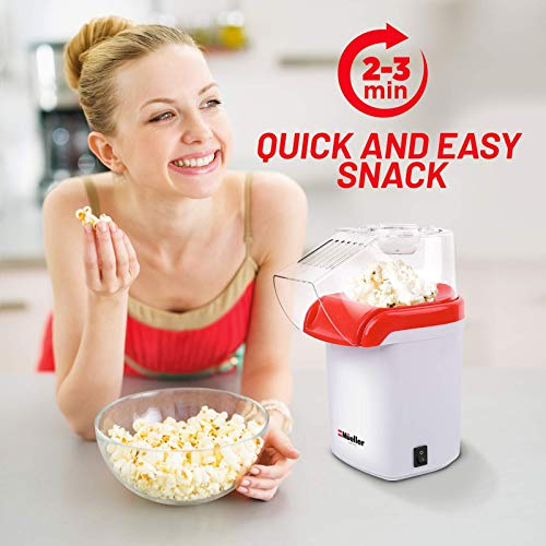 Product Image 5: Mueller Ultra Pop, Hot Air Popcorn Popper, Electric Pop Corn Maker, Healthy and Quick Snack, No Oil Needed with Measuring/Butter Cup