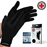 Dr. Arthritis Doctor-Developed Copper Compression Full-Length Gloves and Doctor Written Handbook (Medium)